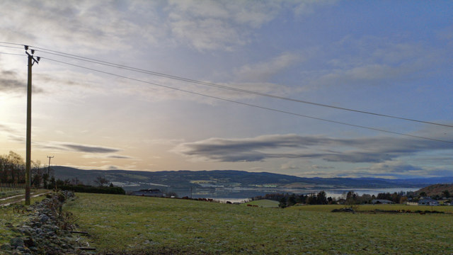 View towards the Beauly Firth from near Coldwells Farm