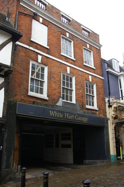 Lincoln: garage to White Hart Hotel, Bailgate