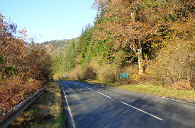 Autumn on the A815 road