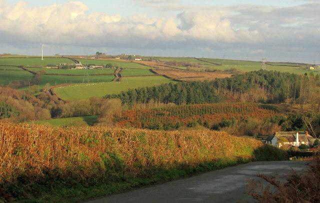 Huntshaw Wood and surroundings