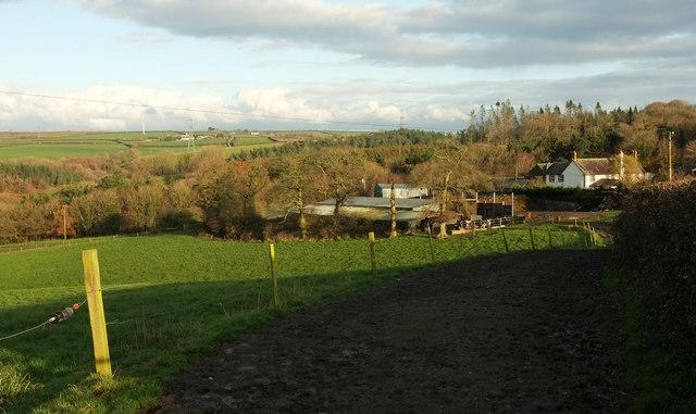 Towards Woodhouse Farm