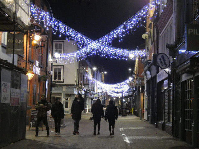 Christmas lights on Silver Street, Leicester