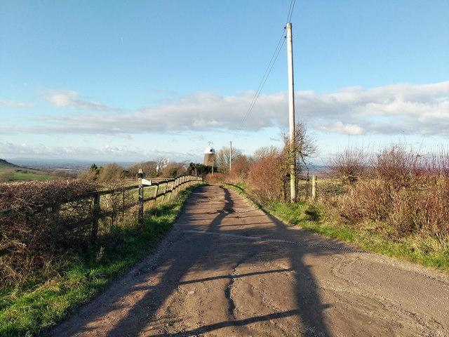 Bridleway towards Jack windmill