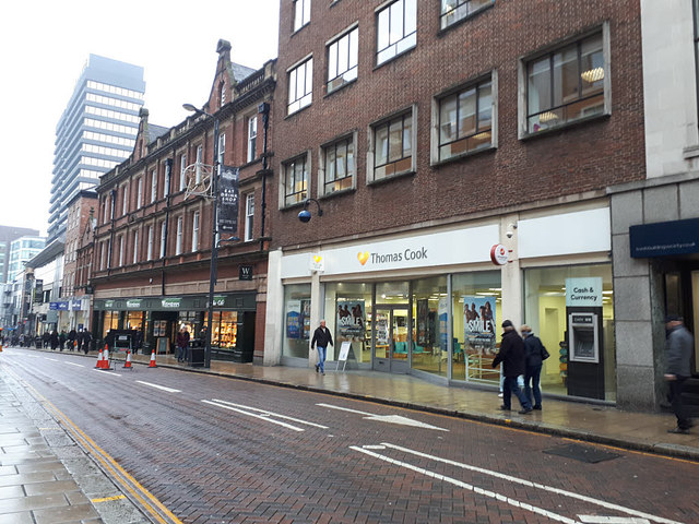 Thomas Cook shop in Leeds, still trading