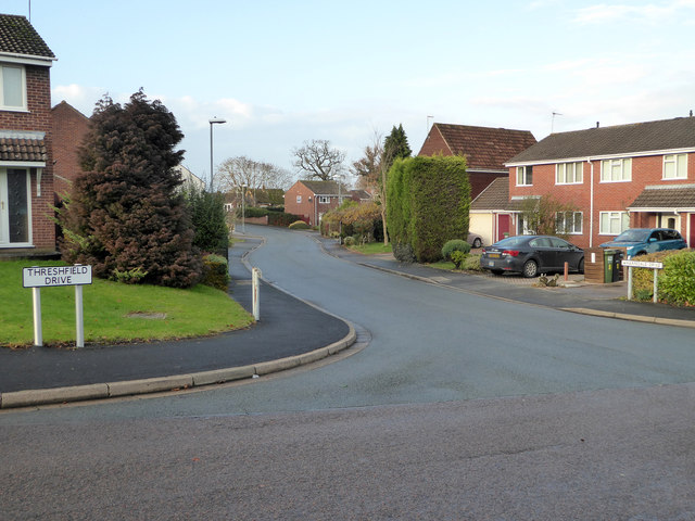 The junction of Threshfield Drive and Wharfedale Drive