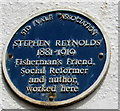 SY1287 : Stephen Reynolds blue plaque, Sidmouth by Jaggery