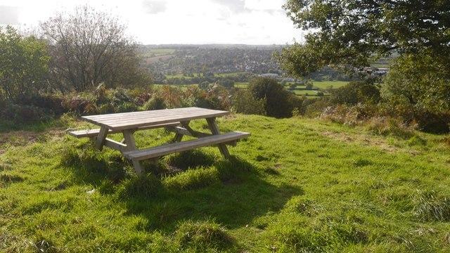 Picnic table, Bromyard Downs