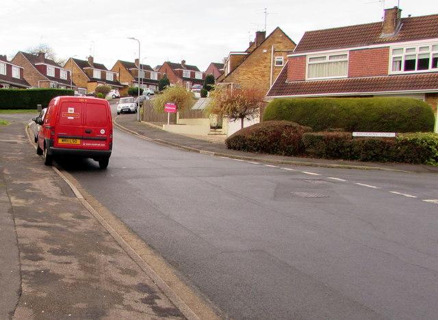 Royal Mail van NW19 in Larch Grove, Malpas, Newport