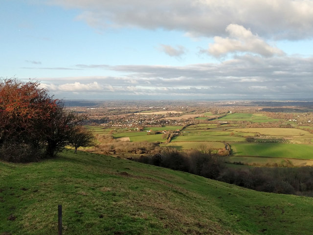 View towards Keymer from South Downs