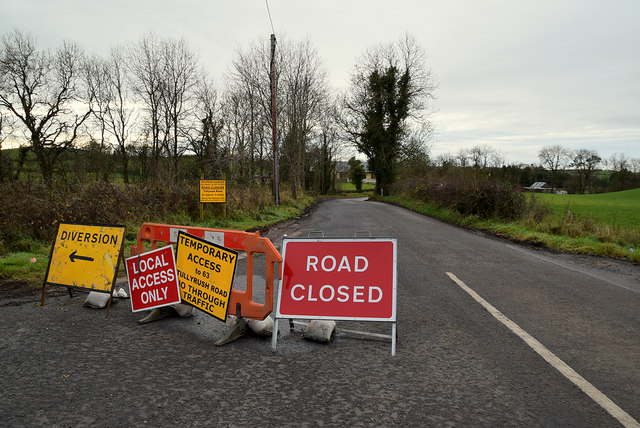 Road closed notices, Ranelly