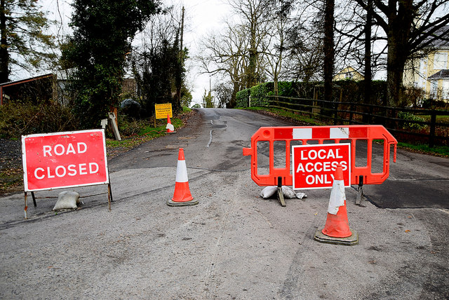 Road closed notices for Tullyrush Road
