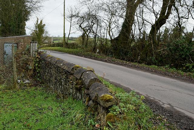 Stone wall along Tullyrush Road