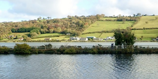 View across the Middlebank to settlement on the A2 in Co Down