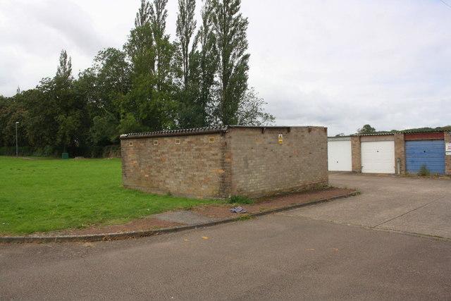 Garage blocks on Wimborne Walk