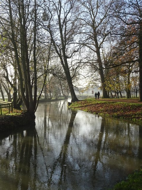 River Cherwell beside Christ Church Meadow