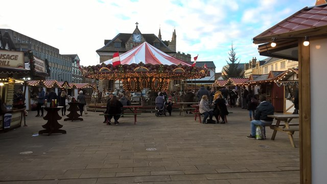 Christmas market on Cathedral Square, Peterborough