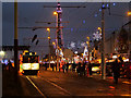SD3035 : Illuminated Tram, Blackpool Promenade by David Dixon