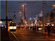 SD3035 : Illuminated Tram, Blackpool Promenade by David Dixon