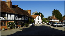 TR0653 : Chilham, Kent - The Square & The White Horse PH by Colin Park