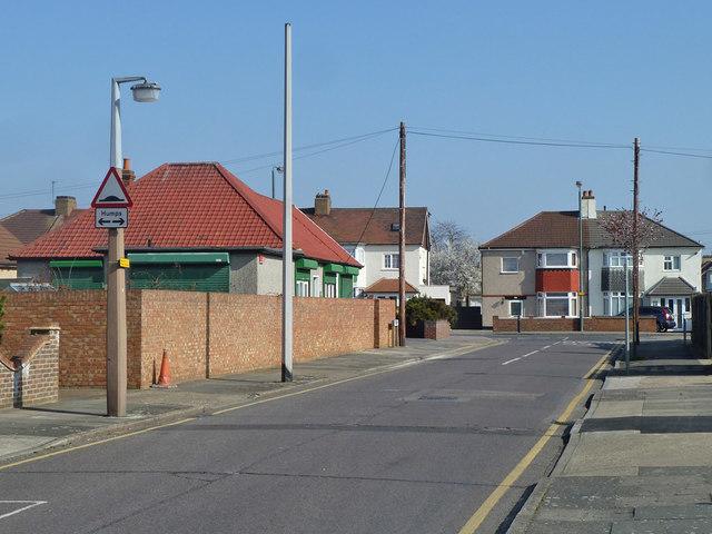 Jenton Avenue at junction with Pickford Lane, Bexleyheath