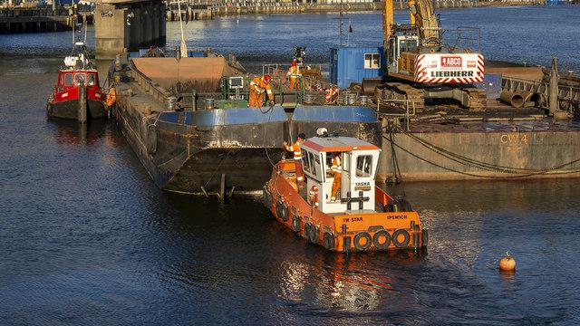 Dredging barges, Belfast