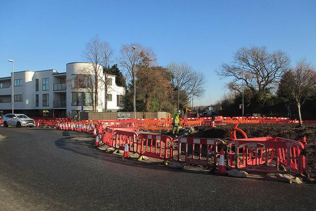 Reworking Fendon Road roundabout