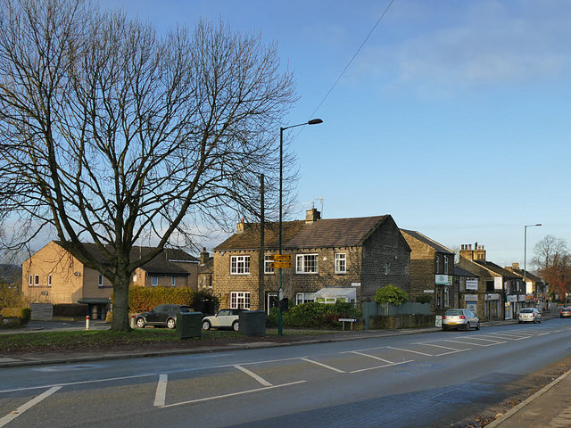 Houses and shops, Harrogate Road, Greengates
