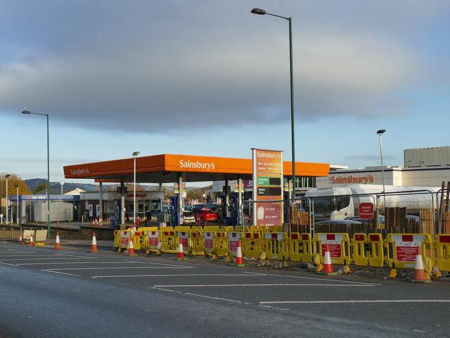 Sainsbury's filling station, Harrogate Road, Greengates