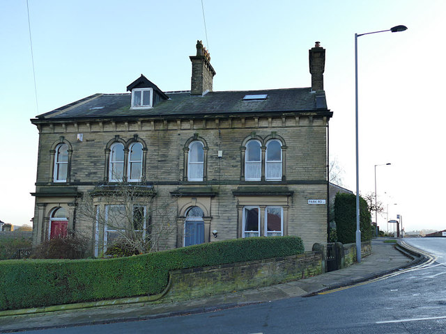 Houses at the top of Park Road, Eccleshill