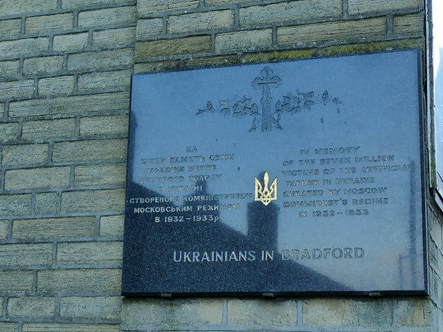 Stalin victims memorial, Ukrainian church, Eccleshill