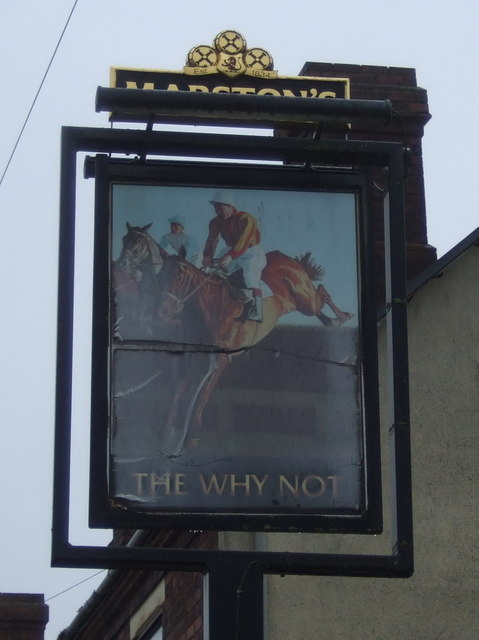 Sign for the Why Not, Springhill