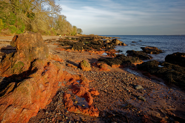 Red rocks at Rosemarkie