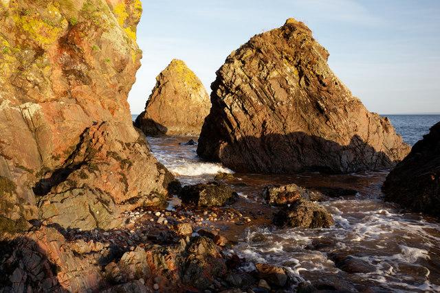 Tidal section of coastal walk at Scart Craig