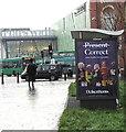 ST3188 : Debenhams advert on a city centre bus shelter, Newport by Jaggery
