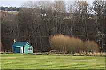 NJ1839 : Fishing Hut by Anne Burgess