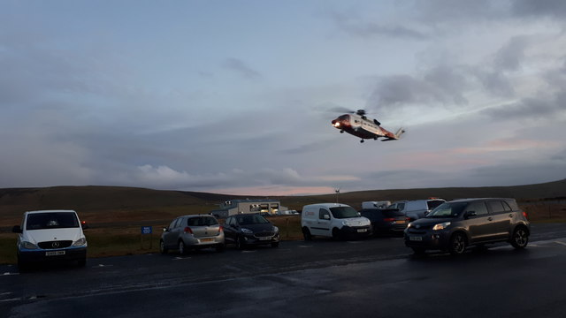 Coastguard rescue helicopter at Tingwall Airport