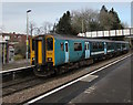 SO4593 : Transport for Wales Class 150 dmu in Church Stretton station by Jaggery