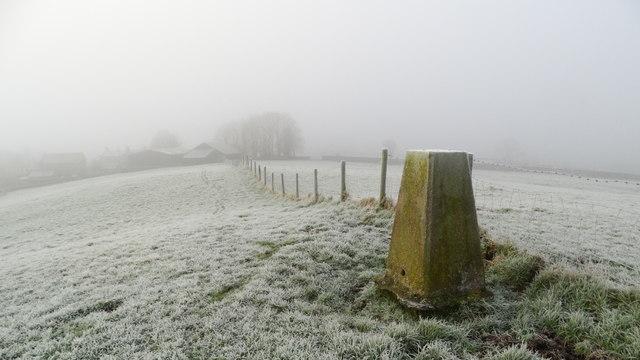 Frosty morning at Bank Top Trig Point near Hartington