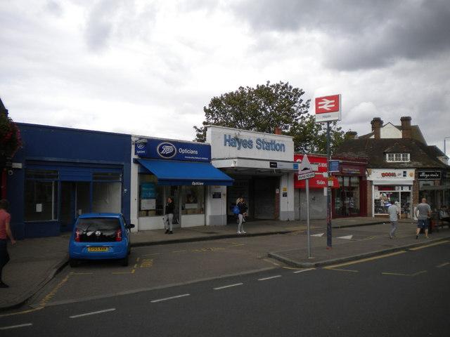 Pedestrian entrance, Hayes station