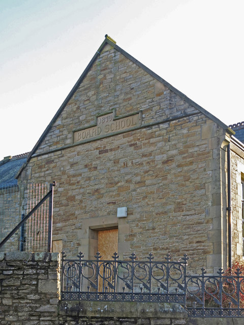 The former Allendale First School - northwest gable
