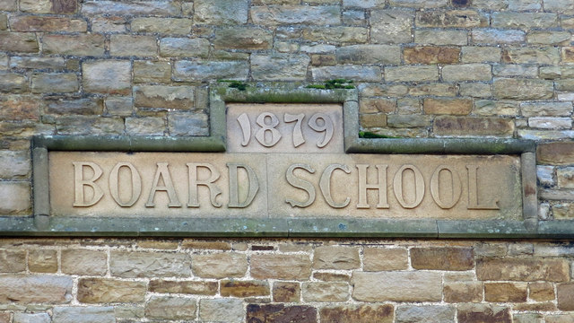 The former Allendale First School - date stone on northwest gable