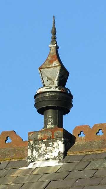 The former Allendale First School - finial