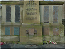 SE1835 : Names on the Eccleshill war memorial by Stephen Craven