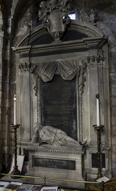 Monument to Edward  Mellish, Ss Mary & Martin's church, Blyth