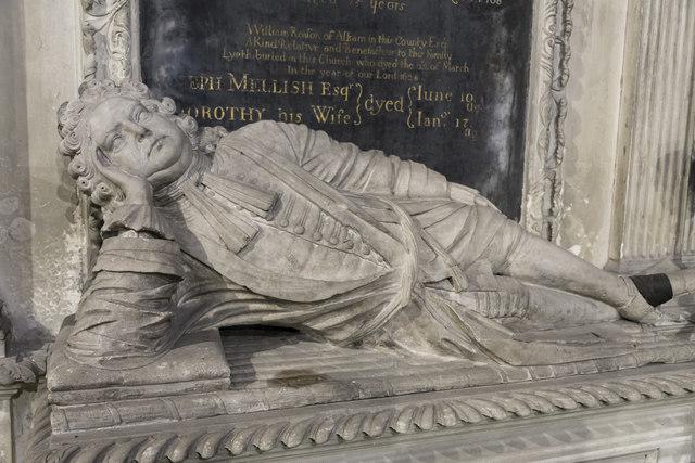 Detail of Edward Mellish monument, Ss Mary & Martin's church, Blyth