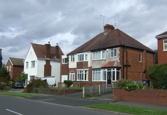 Houses on Finchfield Lane, Wolverhampton