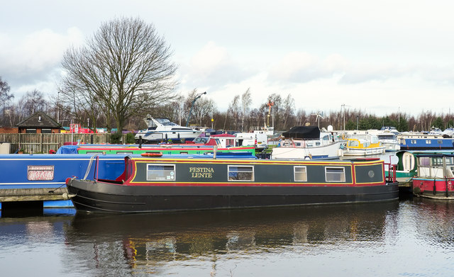 'Festina Lente' and many other boats at Goole Marina
