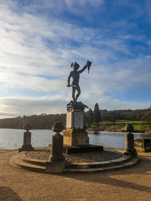 Perseus With the Head of Medusa Statue, Trentham Gardens
