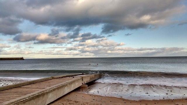 Swimmers at East Sands