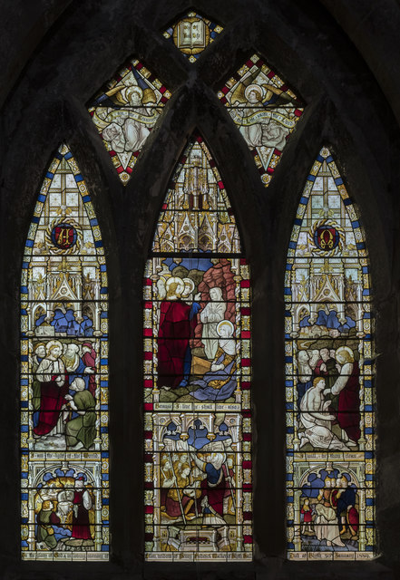 Stained glass window, Ss Mary & Martin's church, Blyth